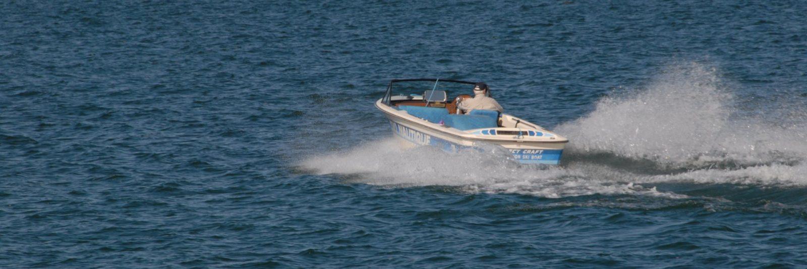boat on lake image